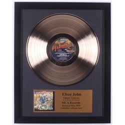 "Elton John Custom Framed 15.75x19.75 Gold Plated ""Captain Fantastic"" Record Album Award Display"