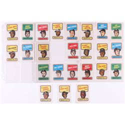 Complete Set of (24) 1970 Topps Booklets with #10 Reggie Jackson, #14 Ernie Banks, #24 Willie Mays
