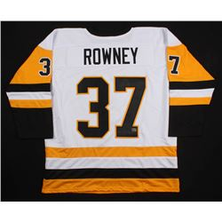 "Carter Rowney Signed Pittsburgh Penguins Jersey Inscribed ""2017 S.C. Champs"" (Rowney COA)"