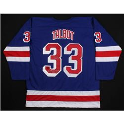 "Cam Talbot Signed New York Rangers Jersey Inscribed ""1st NHL Win 10/26/13""  ""1st NHL Shutout 11/16/1"