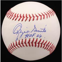 """Ozzie Smith Signed OML Baseball Inscribed """"HOF 02"""" (PSA COA)"""