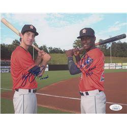 "Kyle Tucker  Daz Cameron Signed Houston Astros 8x10 Photo Inscribed ""1st Round""  ""1st Round Pick"" (J"