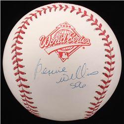 """Bernie Williams Signed 1996 World Series Baseball Inscribed """"SDG"""" (Steiner COA  MLB Hologram)"""