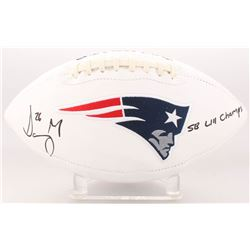 "Sony Michel Signed New England Patriots Logo Football Inscribed ""SB LIII Champs"" (Beckett COA)"