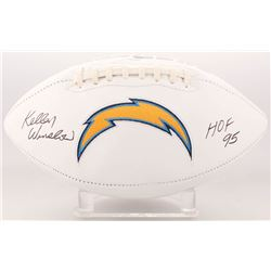 "Kellen Winslow Signed San Diego Chargers Logo Football Inscribed ""HOF 95"" (JSA COA)"
