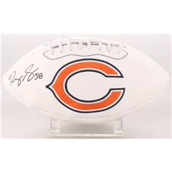 Roquan Smith Signed Chicago Bears Logo Football (Beckett COA)