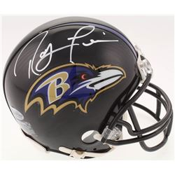 Ray Lewis Signed Baltimore Ravens Mini-Helmet (Beckett COA)