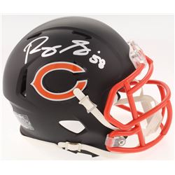 Roquan Smith Signed Chicago Bears Matte Black Speed Mini-Helmet (Beckett COA)