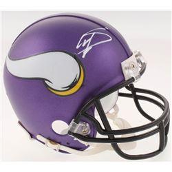Stefon Diggs Signed Minnesota Vikings Mini-Helmet (JSA COA)