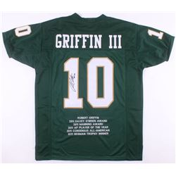Robert Griffin III Signed Baylor Bears Career Highlight Stat Jersey (JSA COA)