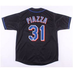 Mike Piazza Signed New York Mets Jersey (Dave  Adams COA  JSA Hologram)
