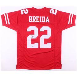 Matt Breida Signed San Francisco 49ers Jersey (Beckett COA)