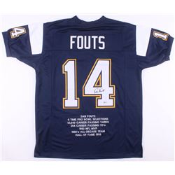 Dan Fouts Signed San Diego Chargers Career Highlight Stat Jersey (Beckett COA)