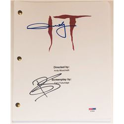 "Andy Muschietti  Bill Skarsgard Signed ""IT"" Movie Script (PSA COA)"