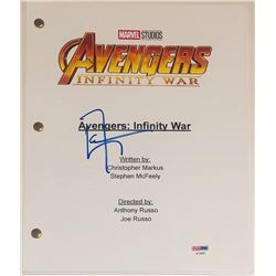 "Don Cheadle Signed ""Avengers: Infinity War"" Movie Script (PSA COA)"