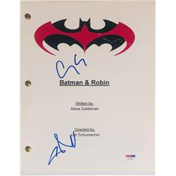 "George Clooney  Chris O'Donnell Signed ""Batman  Robin"" Movie Script (PSA COA)"