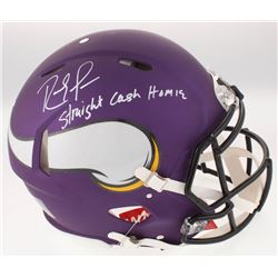Randy Moss Signed Minnesota Vikings Full-Size Custom Matte Purple Authentic On-Field Speed Helmet In