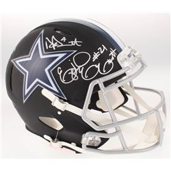 Dak Prescott, Amari Cooper  Ezekiel Elliot Signed Dallas Cowboys Full-Size Custom Matte Black Authen