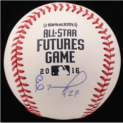 Eloy Jimenez Signed 2016 All-Star Futures Game Logo OML Baseball (JSA Hologram)
