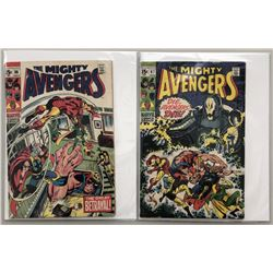 """Lot of (2) 1969 """"The Avengers"""" First Series Marvel Comic Books with Issue #66  Issue #67"""