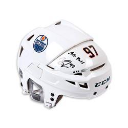 "Connor McDavid Signed Edmonton Oilers Full Size Limited Edition Helmet Inscribed ""Art Ross"" (UDA COA"