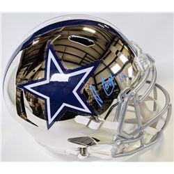Amari Cooper Signed Cowboys Full-Size Chrome Speed Helmet (Beckett COA)