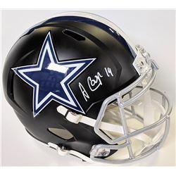 Amari Cooper Signed Dallas Cowboys Full-Size Matte Black Speed Helmet (Beckett COA)