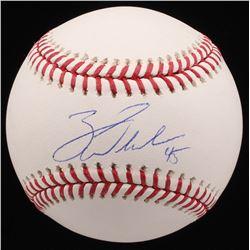 Zack Wheeler Signed OML Baseball (MAB Hologram)