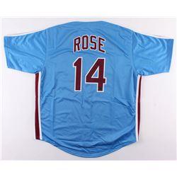 "Pete Rose Signed Philadelphia Phillies Jersey Inscribed ""Hit King""  ""4256"" (Radtke COA)"