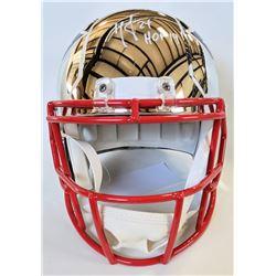 "Ty Law Signed New England Patriots Full-Size Chrome Speed Helmet Inscribed ""HOF 19"" (Beckett COA)"