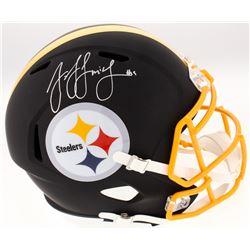 JuJu Smith-Schuster Signed Pittsburgh Steelers Full-Size Custom Matte Black Speed Helmet (JSA COA)