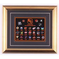Vintage NHL Pin Set 14.5x16.5 Custom Framed Display