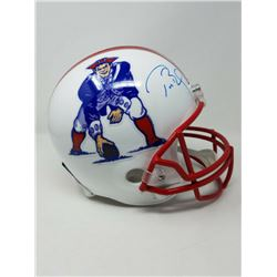 Tom Brady Signed New England Patriots Limited Edition Throwback Full-Size Helmet (TriStar Hologram