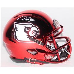 Lamar Jackson Signed Louisville Cardinals Chrome Speed Mini Helmet (Schwartz Sports COA)