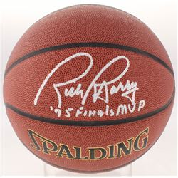 "Rick Barry Signed Basketball Inscribed ""'75 Finals MVP"" (Schwartz COA)"