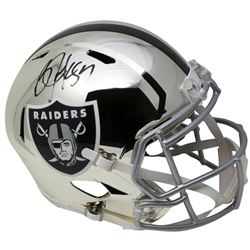 Bo Jackson Signed Los Angeles Raiders Full-Size Chrome Speed Helmet (Beckett COA)