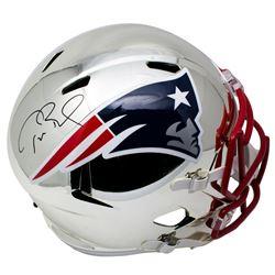 Tom Brady Signed Patriots Full-Size Chrome Speed Helmet (Tristar Hologram)