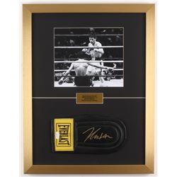 Julio Cesar Chavez Signed 17x22 Custom Framed Everlast Sparring Glove Display (JSA COA)