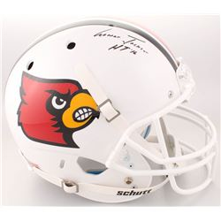 "Lamar Jackson Signed Louisville Cardinals Full-Size Helmet Inscribed ""HT '16"" (Schwartz Sports COA)"