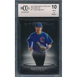 2013 Bowman Sterling Prospects #11 Kris Bryant (BCCG 10)