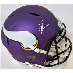 Stefon Diggs Signed Minnesota Vikings Full-Size Speed Helmet (Beckett COA)
