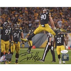 T. J. Watt Signed Pittsburgh Steelers 8x10 Photo (JSA COA  Watt Hologram)
