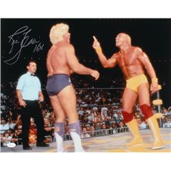 Ric Flair Signed WWE 16x20 Photo Inscribed  16x  (JSA COA)