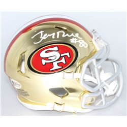 Jerry Rice Signed San Francisco 49ers Chrome Speed Mini-Helmet (Beckett COA)