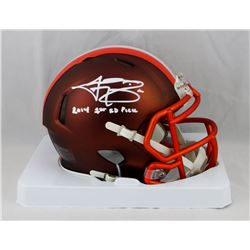 "Johnny Manziel Signed Cleveland Browns Blaze Speed Mini Helmet Inscribed ""2014 1st Rd. Pick"" (JSA CO"