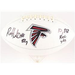 "Roddy White Signed Atlanta Falcons Logo Football Inscribed ""10,863 Rec Yds"" (Beckett COA)"