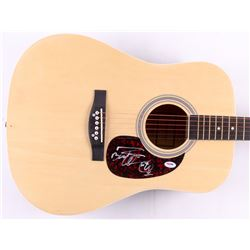 """Bootsy Collins Signed 38"""" Acoustic Guitar with Inscription (PSA COA)"""