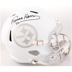 Franco Harris Signed Pittsburgh Steelers Custom Matte White Ice Full-Size Speed Helmet (JSA COA)