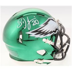 Brian Dawkins Signed Philadelphia Eagles Chrome Speed Mini Helmet (Radtke COA)