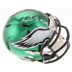 LeGarrette Blount Signed Philadelphia Eagles Chrome Speed Mini-Helmet (Radtke COA)